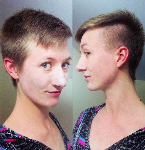 girls' short haircut for straight hair