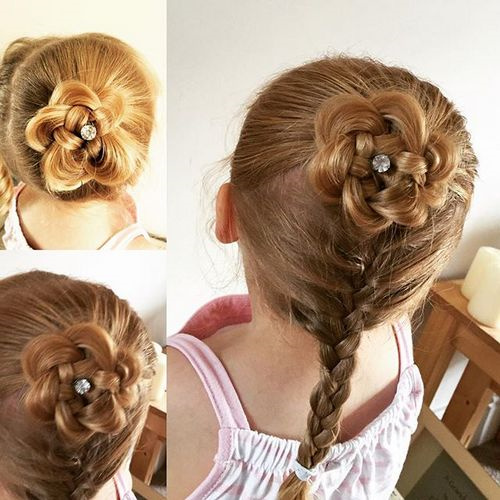 braided hairstyle for a little girl
