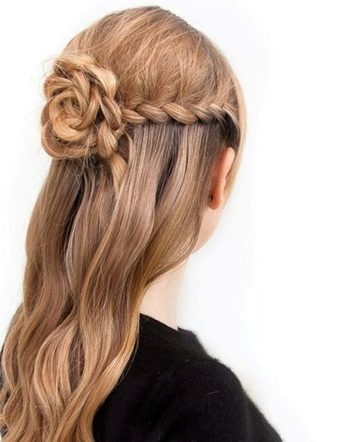 lace rose half updo