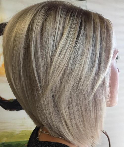 Layered Blonde Lob