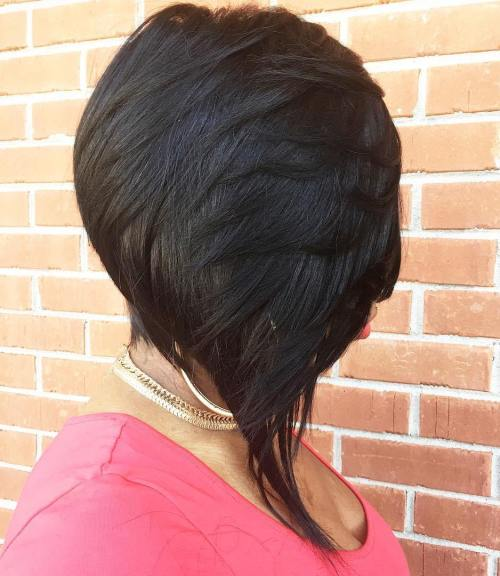 Short Layered Asymmetrical Bob