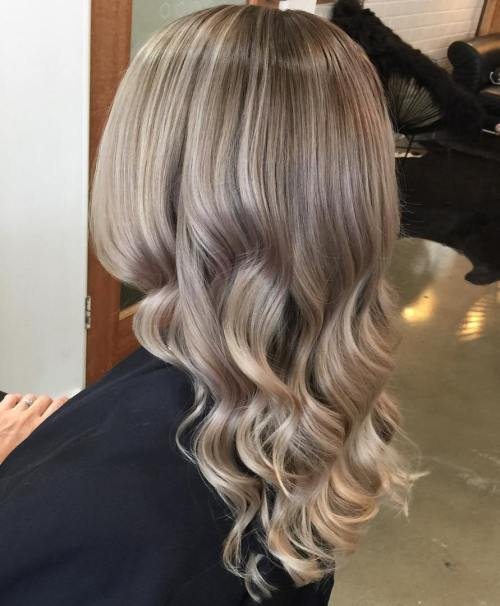 Brown Blonde Curly Hair With Ombre Highlights