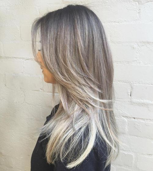 Light Brown Hair With Gray Highlights