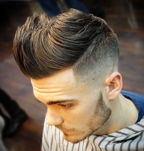 Quiff Haircut with Short Sides
