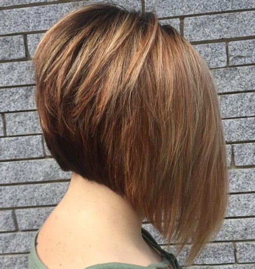 Steeply Angled Layered Bob