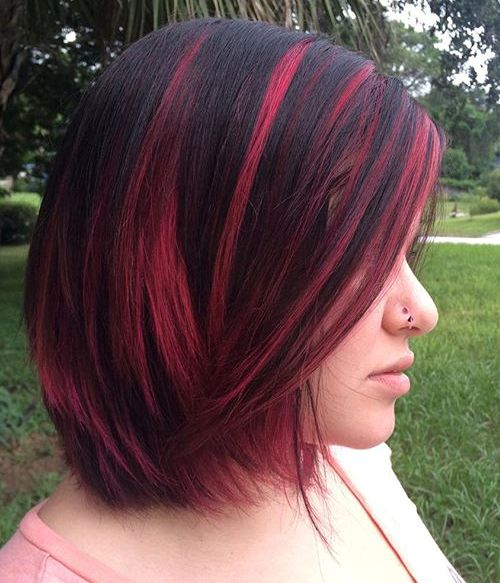 40 best pink highlights ideas for 2017 black hair with pink highlights pmusecretfo Images