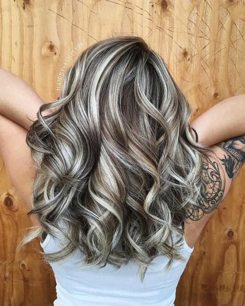 Metallic Blonde Highlights For Chocolate Hair