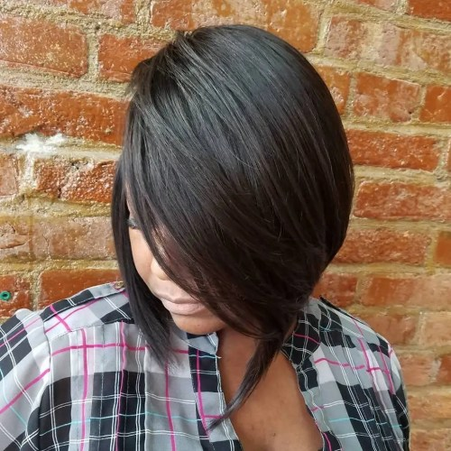 Side Parted Sew-In Bob