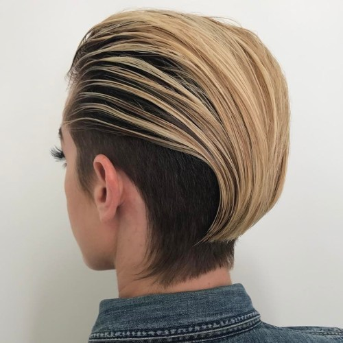 Slicked-Back Two-Tone Bob
