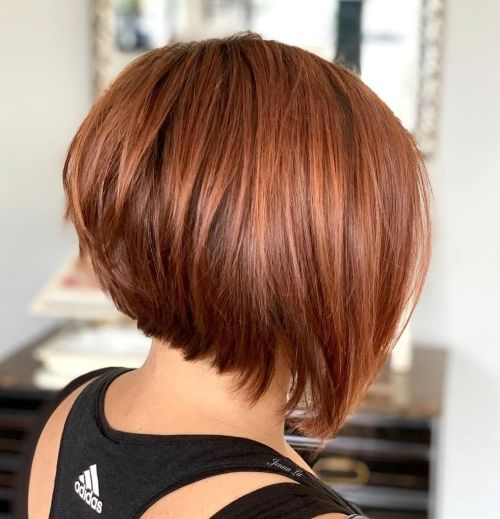 Smooth Angled Copper Red Bob