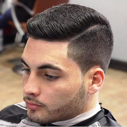 men's side part haircut with undercuts