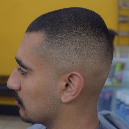 extra short fade haircut for men