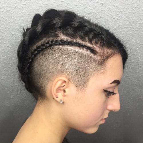 Very Short Braided Undercut Hairstyle