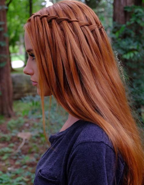 Waterfall Braid For Straight Hair