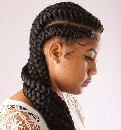 long goddess braids for black women