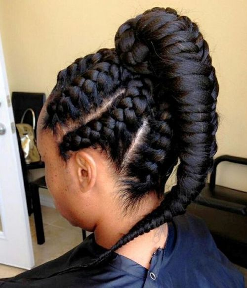 black braided updo