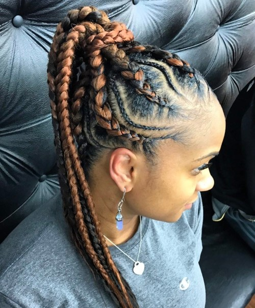 Light Brown Goddess Braids