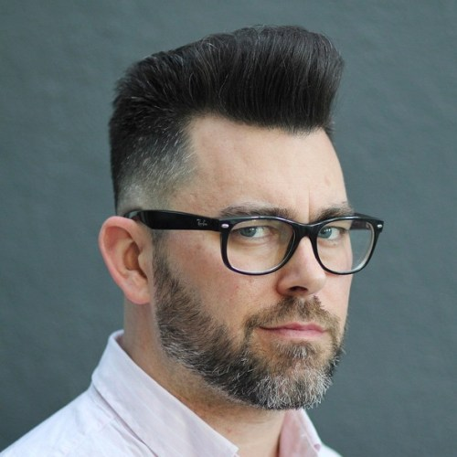 men's point cut flat top haircut