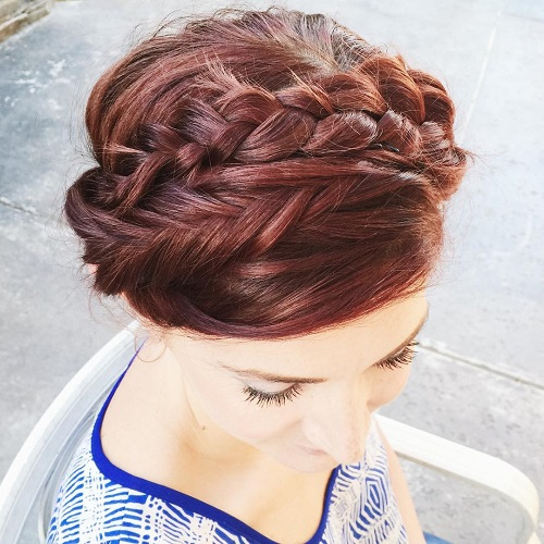 milkmaid braid with fishtail