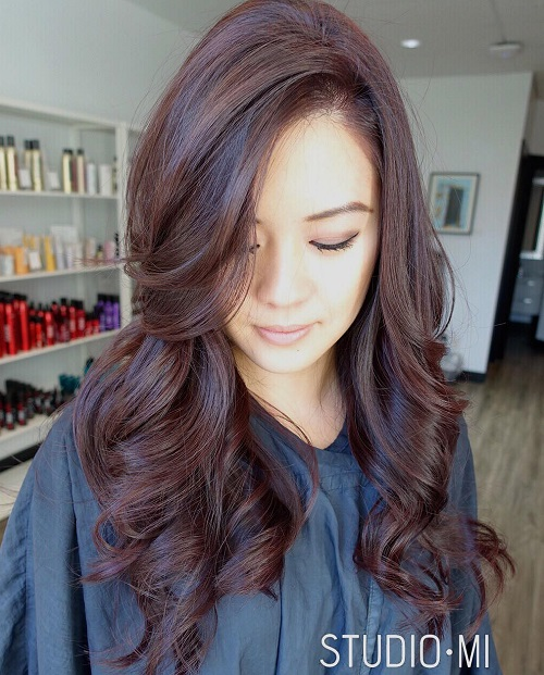 dark brown hair color idea