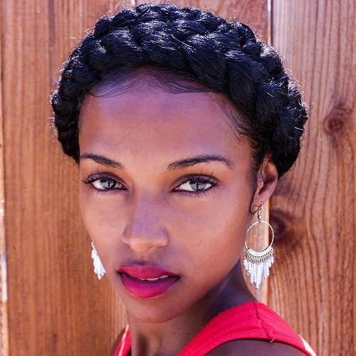 double milkmaid braid for natural hair