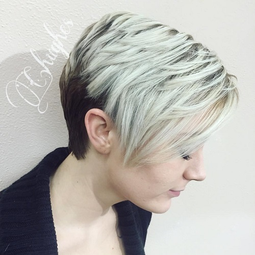 short layered two-tone hairstyle