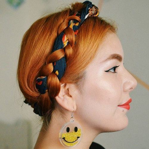 milkmaid braid for shorter hair