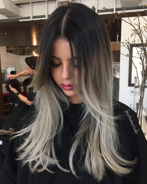 Dark Brown To Ash Blonde Ombre