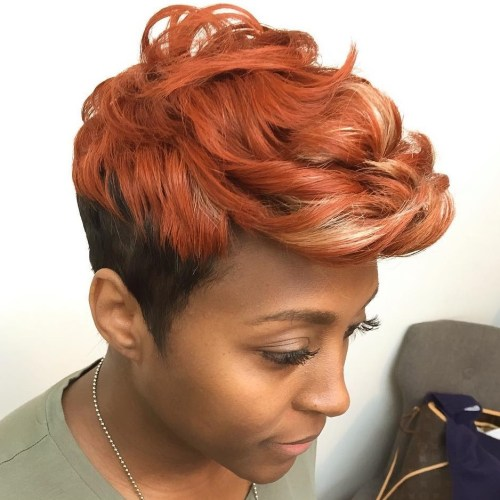 35 short weave hairstyles you can easily copy rose gold pixie weave pmusecretfo Choice Image