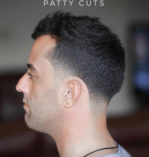 Men'S Cut With Temple And Nape Fade