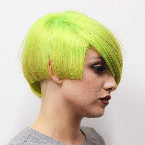 Blunt Asymmetrical Bob Haircut