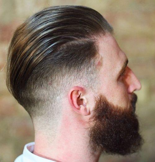 long top short sides and full beard