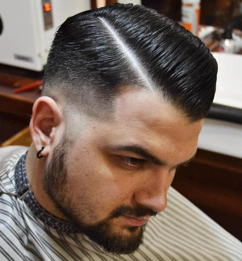 Combover With Taper Fade