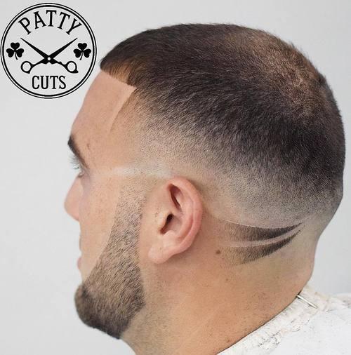 Caesar fade haircut