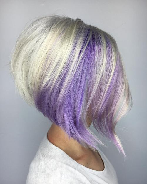 Silver And Lavender Bob