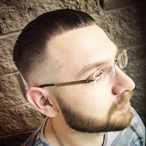 men's tapered haircut for receding hairline