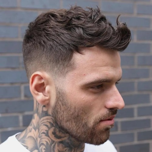 Taper Cut With Curly Top