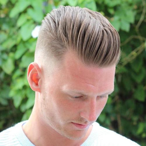 Blonde Long Top Short Sides Hairstyle