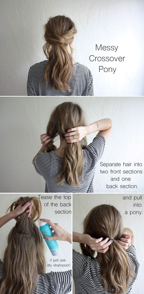 Messy Low Ponytail Diy