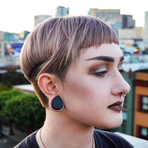 Funky Undercut Bowl Cut