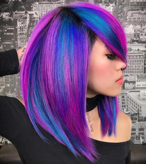 Pink And Blue Neon Hair