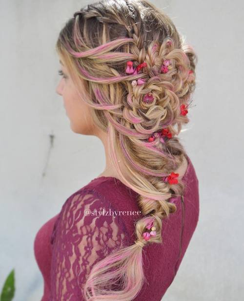 Side Braided Boho Hairstyle