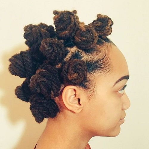 Bantu Knots For Dreadlocks