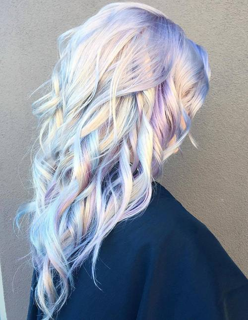 Platinum And Lavender Hair Color Idea