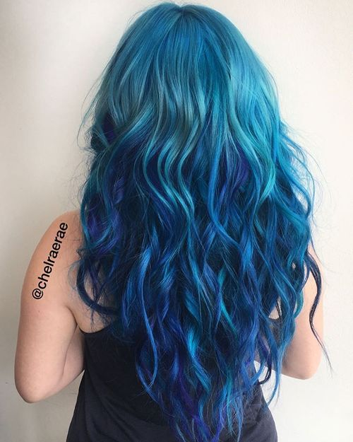 20 fresh teal hair color ideas for blondes and brunettes teal hair with blue highlights pmusecretfo Images