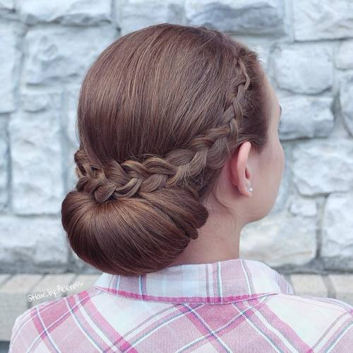 Chignon With A Braid