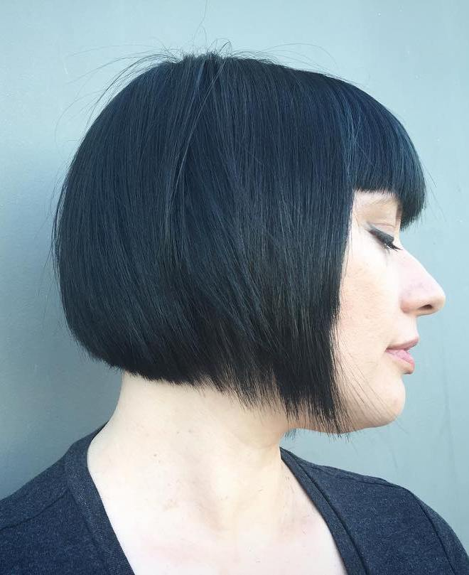 Black Bob With Bangs