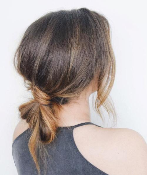 Low Knotted Ponytail