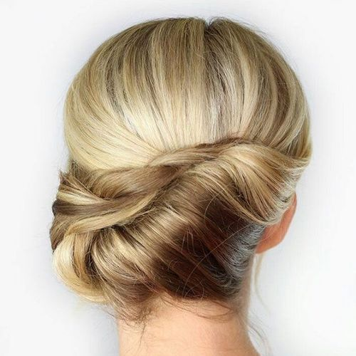 Asymmetrical French Roll Updo