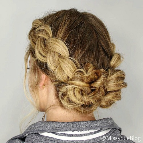 Double Dutch Low Bun